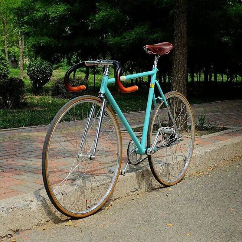 Fixed Gear Bike Track Single Speed Bike Fixie Bike 700C Vintage Road Bicycle Chrome Molybdenum Steel Bike Frame 54cm 56cm 58cm