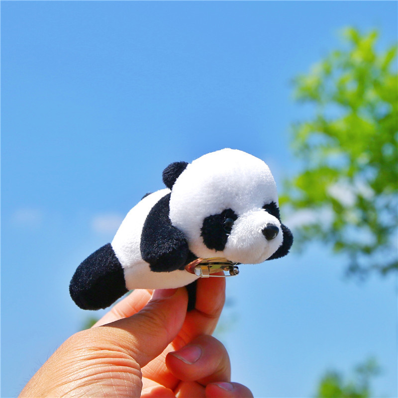 1Pcs Super Cute Panda bear brooch pins Animal brooches Soft Plush Toy Accessories Love Jewelry Kawaii gifts for girl