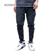 2018 fitness hombres Pantalones Primavera Verano algodón sudor Pantalones  sólido pantalones cintura elástica masculino Pantalones harem be931ac9e115
