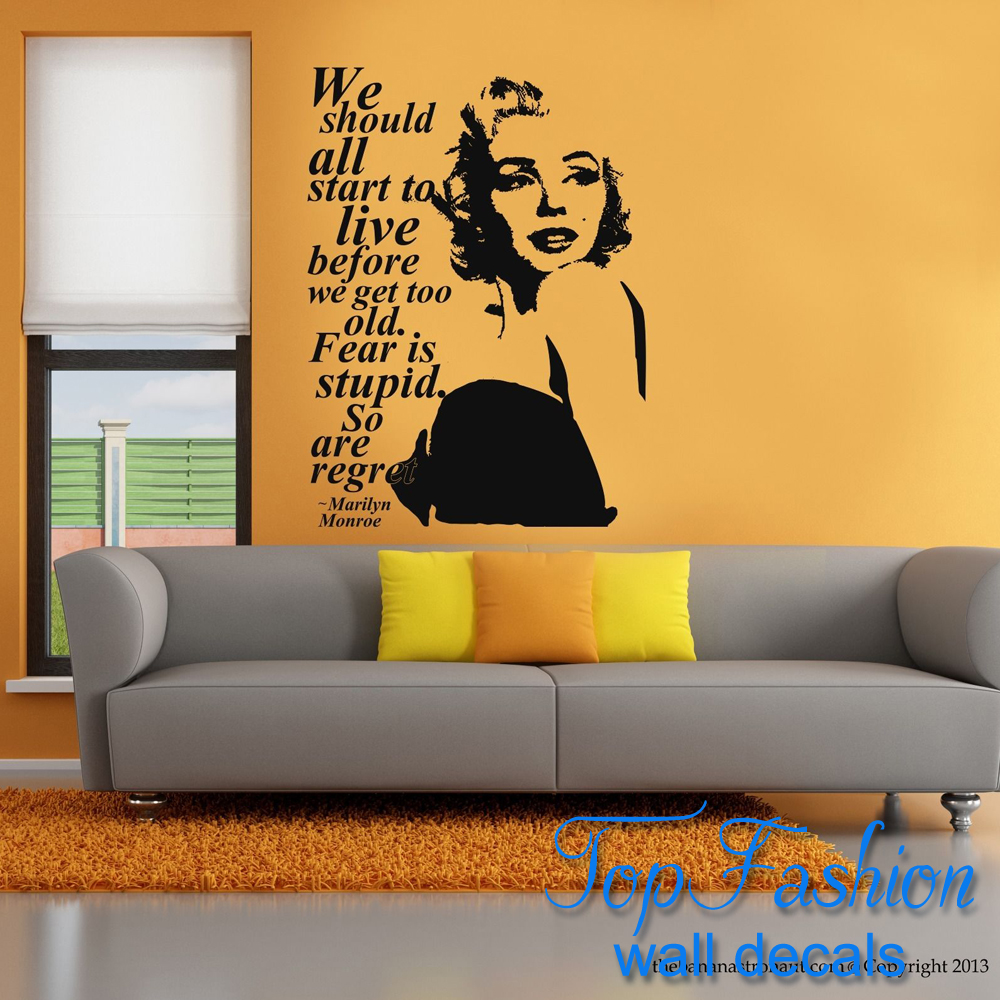 Aliexpress.com : Buy Free Shipping size 58*66cm Marilyn Monroe Quote ...