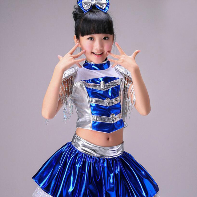 82965a98c US $22.64 40% OFF|Children Sequin Jazz Dance Hip Hop Dance Costume Kids  Ballroom Dresses Dance Performance Costumes High Quality Modern Costume on  ...