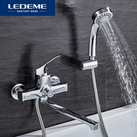 LEDEME Bathroom Fixture Sets Faucets 1 SET Set Bath Shower Tap Bathroom Shower Set Bathtub Faucet
