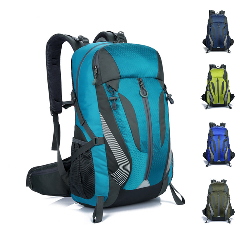 Outdoor Big Capacity Nylon Sports Clothing Bag 40L Wear Resistant Mountaineering Hunting Climbing Camping Travel Backpack