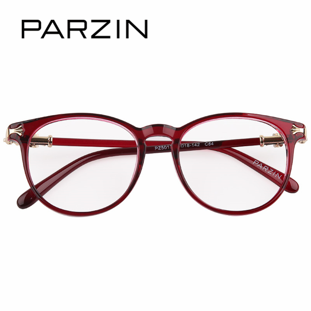 nuovo stile 16ef3 a1132 US $67.8 |PARZIN Trendy Big Montature Per Occhiali Con Lenti Trasparenti  Colorati Miopia Montature Per Occhiali Da Vista Ottica Occhiali Accessori  ...