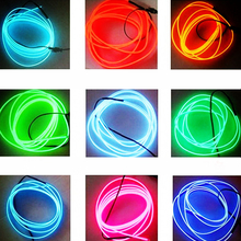 Dewtreetali Hot Sale 1m 2m 3m 5m 9mm Car decor lighter LED Lamp Strip thread sticker decals tags Flexible Neon Light EL Wire Rop