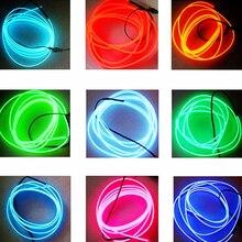 Dewtreetali Лидер продаж 1 м 2 м 3 м 5 м 9 мм автомобиля декоративный светильник светодио дный лампы Газа клейкий шнур наклейки, этикетки Гибкая неоновый свет EL провода Rop