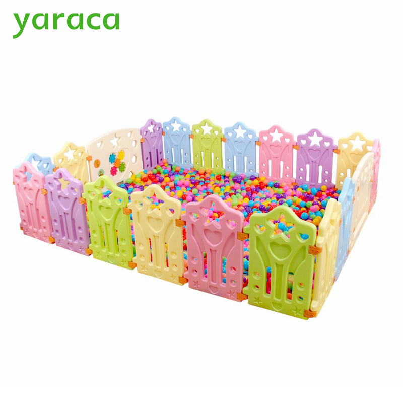 Baby Playpens Children Plastic Fence Colorful Kids Play Yard Educational Safety Barriers Indoor Game Playground For Baby 1000g dynamic amazing diy educational toys plasticine indoor magic play do dry sands mars space sands color clay for kids