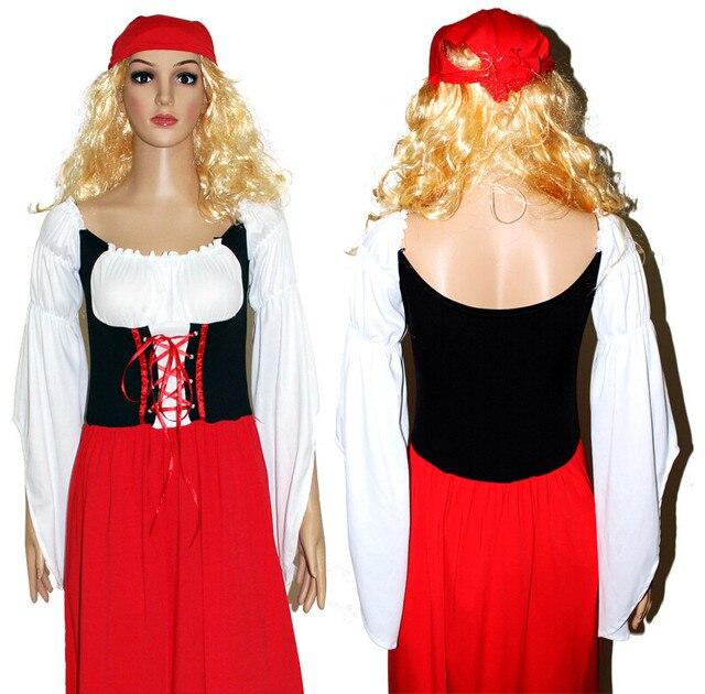 e0ff60b099b Oktoberfest Beer Festival October Dirndl Red Maid Peasant Skirt Dress Apron  Blouse Gown German Wench Costume Adult Fancy Dress Sc 1 St Aliexpress