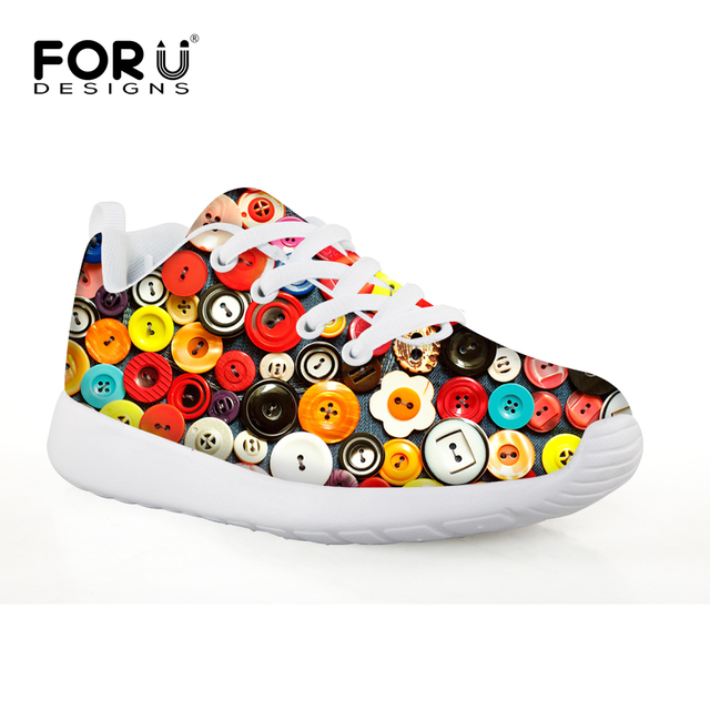FORUDESIGNS Oil Printing Mesh Professional Outdoor Kids' Sneakers Children Trainers Shoes Cleats For Sports Football Shoes