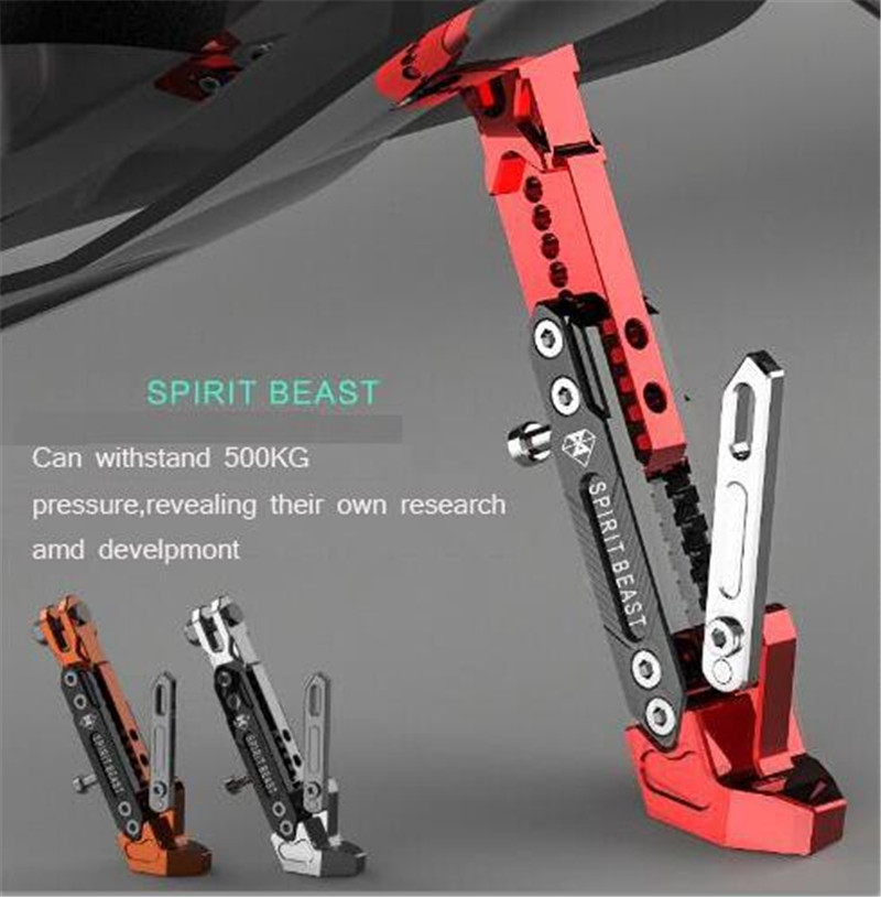 SPIRIT BEAST Motorcycle Support Side Frame Adjustable High Side Support Modified Scooter Side Stand
