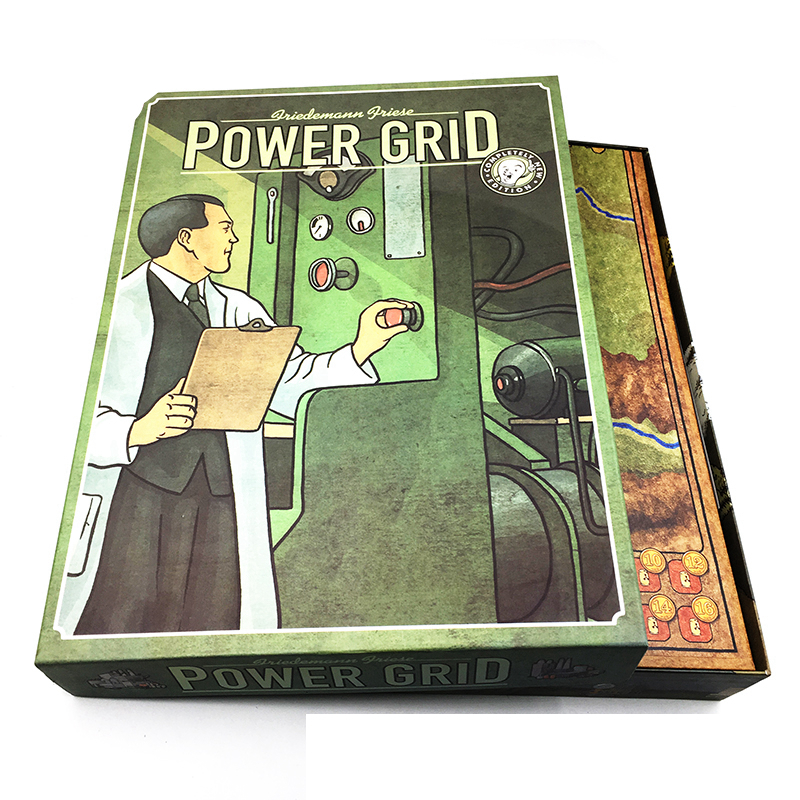Power Grid  Board Game English Version ,Basis+Expand Cards Game ,Germany + United States Map With English Instructions twister family board game that ties you up in knots