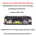 CE505X 05X Series Laser Toner Cartridge Compatible For HP LaserJet 2050, 2055 High Yield (6,900 Yield) - Black