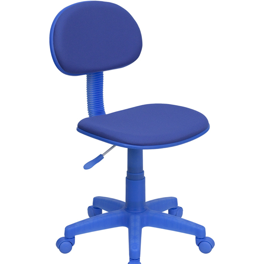 Flash Furniture Blue Fabric Ergonomic Task Chair [863-BT-698-BLUE-GG]