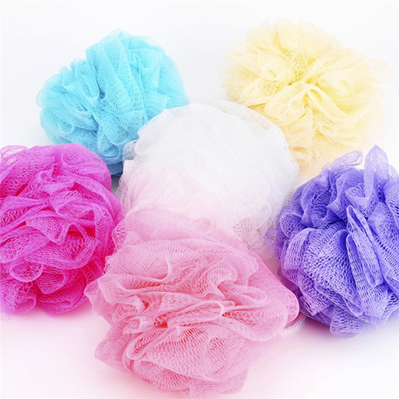 2pcs/lot Candy color bath ball body cleaning mesh Bathing scrubber tool shower wash bathing accessories Y1-5