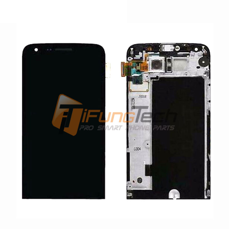 100% Tested For LG G5 H850 LCD Display with Touch Screen Digitizer Assembly With Frame Black Free Shipping lcd screen display touch panel digitizer with frame for htc one m9 black or silver or gold free shipping