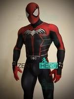 3D Printed Spider Bat Cosplay Costume Spandex Halloween Suit The Spiderman&Batman Symbiosis Superhero Zentai Bodysuit With Cape