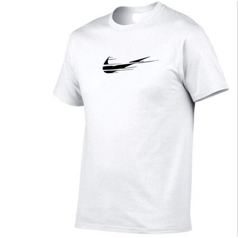 2018 New Fashion T shirt Brand Clothing Print Men casual short sleeve o-neck fashion printed cotton t shirt men white/red tee sh