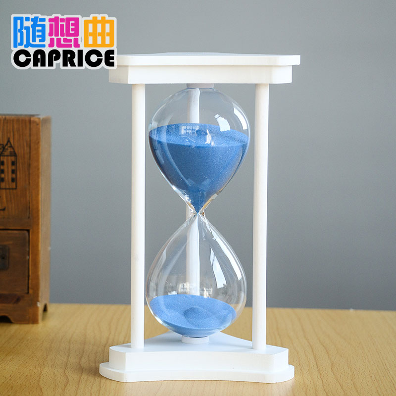 The desk decoration ornaments Home Furnishing creative glass 45/60 minutes hourglass women to send birthday gift