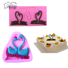1PCS 3D Swan Cake Mold Fondant Cake Decorating Tools Silicone Soap Mold Mould Wedding Decoration Cupcake Kitchen Accessories