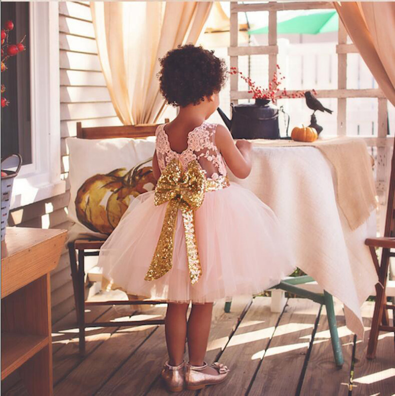 LZH Summer Baby Girls Dress Kids Sequins Bowknot Wedding Party Dresses Christmas Costume Girls Princess Dress For Girls Clothes 18