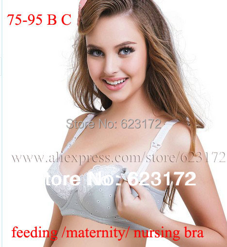 dea5b72a6e motherhood breast feeding maternity nursing bra bras cotton women underwear  open pregnant clothing plus size XY02 75-95 B C D