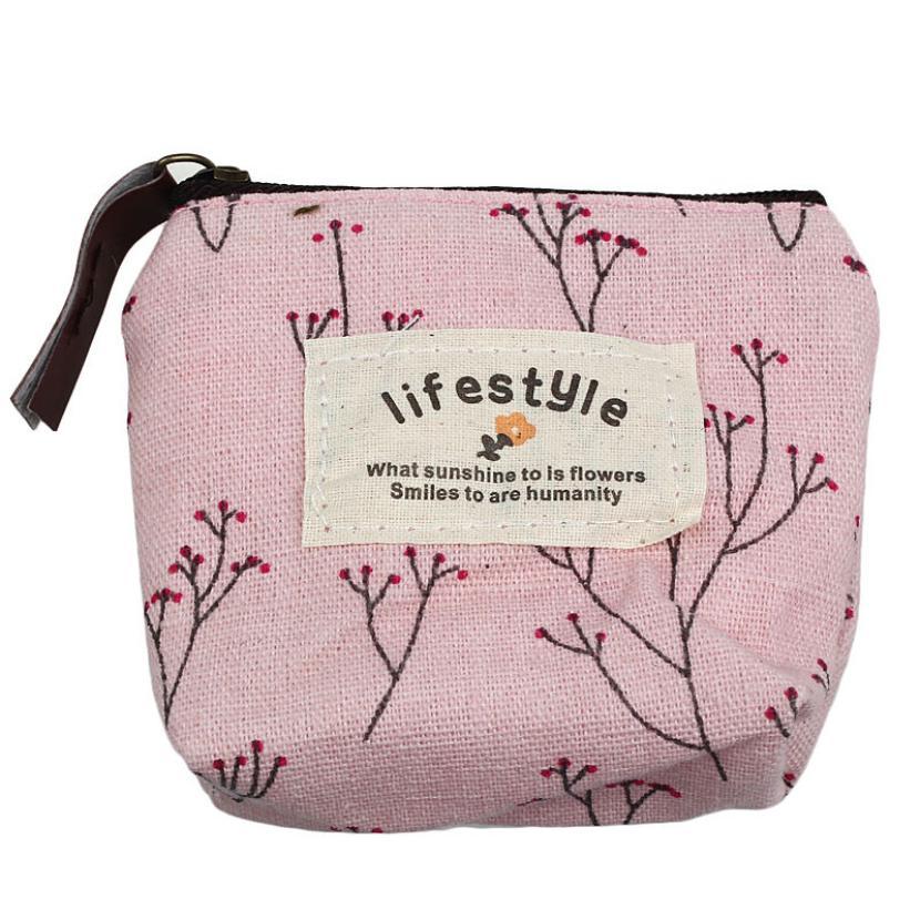 desire #50 Small Canvas Purse Zip Wallet Lady Coin Case Bag Handbag Key Holder