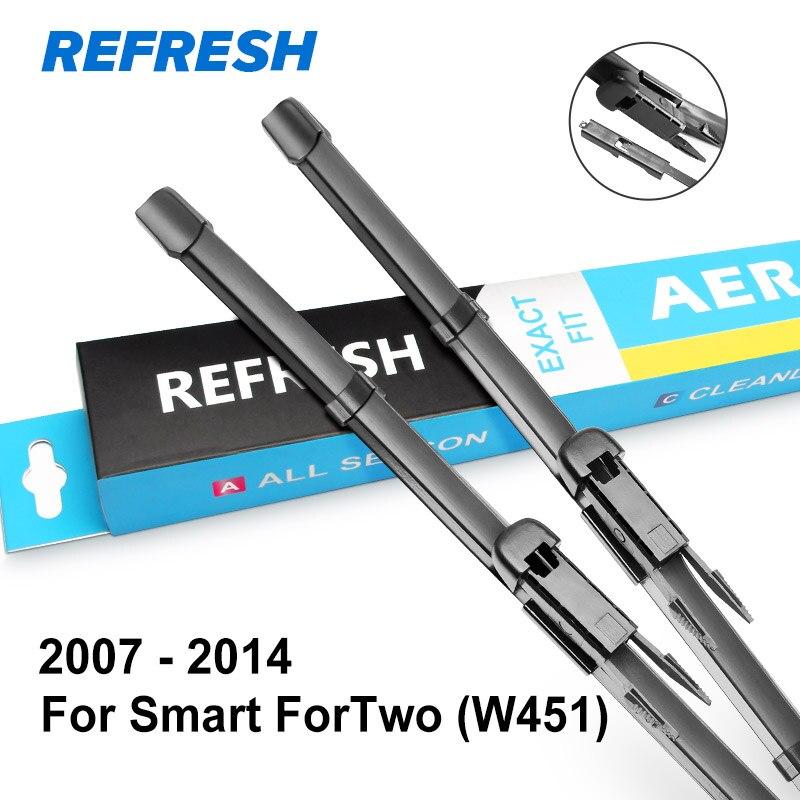 REFRESH Щетки стеклоочистителя для Smart ForTwo W451 A453 Pinch Tab / Bayonet 2007 2008 2009 2010 2011 2012 2013 - Цвет: 2007 - 2014 ( W451 )