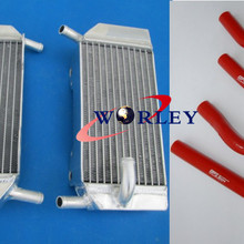 Для HONDA CRF250R CRF250X CRF 250 R CRF 250X 2004-2009 2008 2007 2006 2005 04 05 06 07 08 09 Алюминий радиатор шланг
