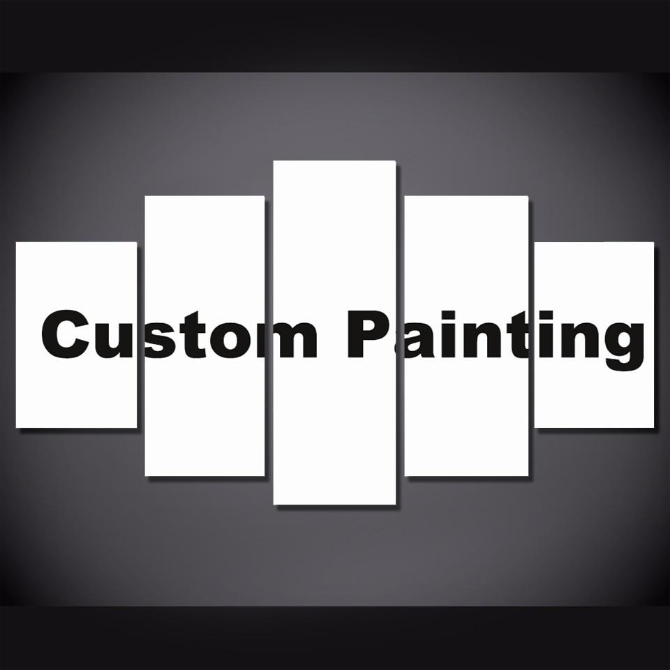 5 Piece Wall Art Drop Shipping Customized Prints Painting