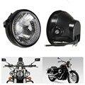 7 ''Motocicleta Farol Faróis de Moto Motocross Head Light + Suporte de Acessórios Da Motocicleta Universal Para Harley Bobber