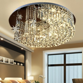 Crystal LED Ceiling Light Lamps Fashion Moon Ceiling Lamp ...