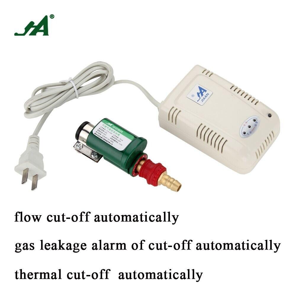 Security Alarm Sensor JA 8301 Smart LPG Valves Leak Detector Self Cut Off safety valve solenoid valve gas detector timer