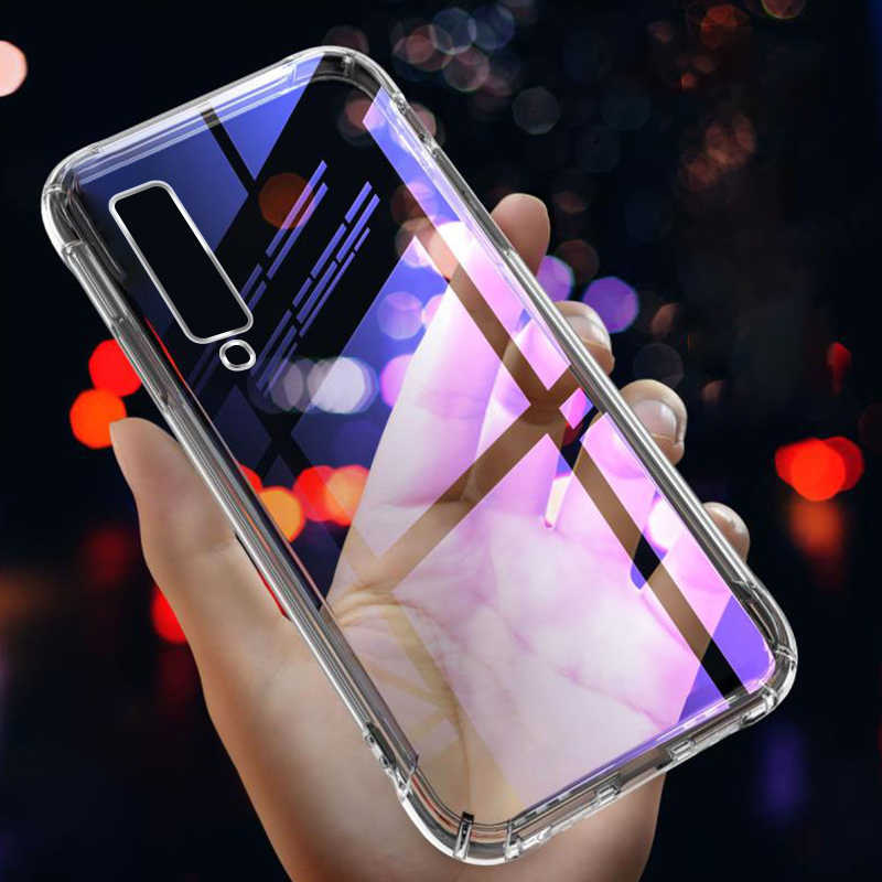 Silicone TPU Case For Samsung Galaxy A7 A9 2018 A50 A30 A20 M20 M10 Clear Airbag Anti-Drop Cover For Samsung S10 A6 A8 Plus 2018