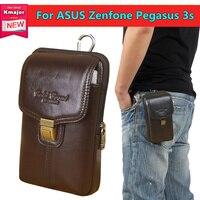 Golden Snapper Genuine Leather Belt Clip Pouch Waist Purse Case Cover For ASUS Zenfone Pegasus 3s