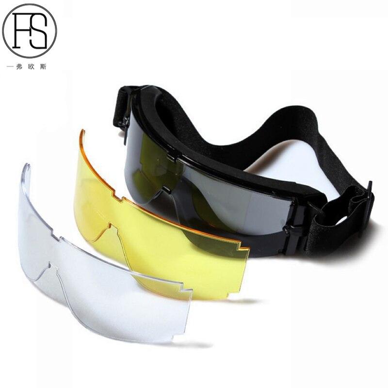 Военная Униформа Очки x800 тактические очки Охота Пейнтбол CS очки Стрельба Лыжный Спорт Для мужчин Солнцезащитные очки для женщин ветрозащит...