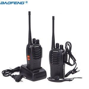 Image 2 - 2Pcs Baofeng BF 888S ווקי טוקי UHF BF888S כף יד רדיו 888S Comunicador משדר משדר + 2 אוזניות