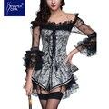 Burvogue mujeres shapers corsé de encaje vestido más el tamaño gótica busties corsé push up corsetlet berro corsetlet
