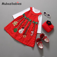 New Year Children Winter Christmas Costumes Baby Clothes Sets Kids Suit Baby Girls Coat Dress Baby