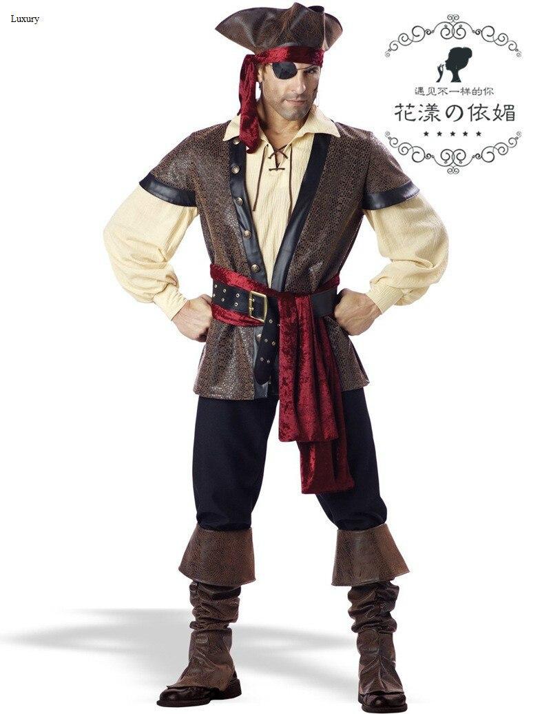 2014 luxury new yes adult men's cosplay halloween pirate costume