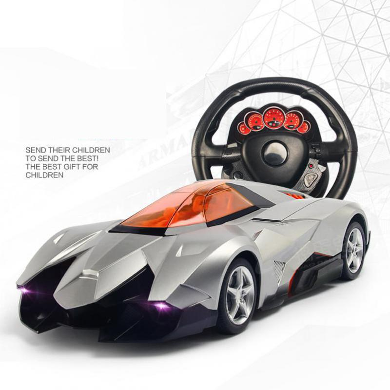 Trick One Key To Open The Door Simulation Model Toy Steering Wheel Remote Control Car Large 1:12 Sports Gravity Induction infrared remote control simulation brazil turtle toy animal model