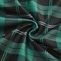 Новинка, женское зеленое клетчатое платье мини на бретелях-спагетти с завязками, летнее платье m99