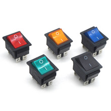 Latching Rocker Switch Power I/O 4 Pins and 6 With Light 16A 250VAC 20A 125VAC KCD4