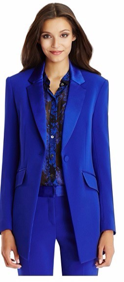Autumn Winter Office Lady's 2018 Custom made Jacket Basic Elegant Ladies Office Royal Blue Pant Suits Two Piece Custom made Suit