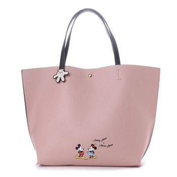 02a752d90a58b 2019 Disney Moda Baskı Mickey Minnie Işlevli Mumya Çanta Açık Alışveriş  Büyük Kapasiteli Bebek Çanta Büyük alışveriş çantası