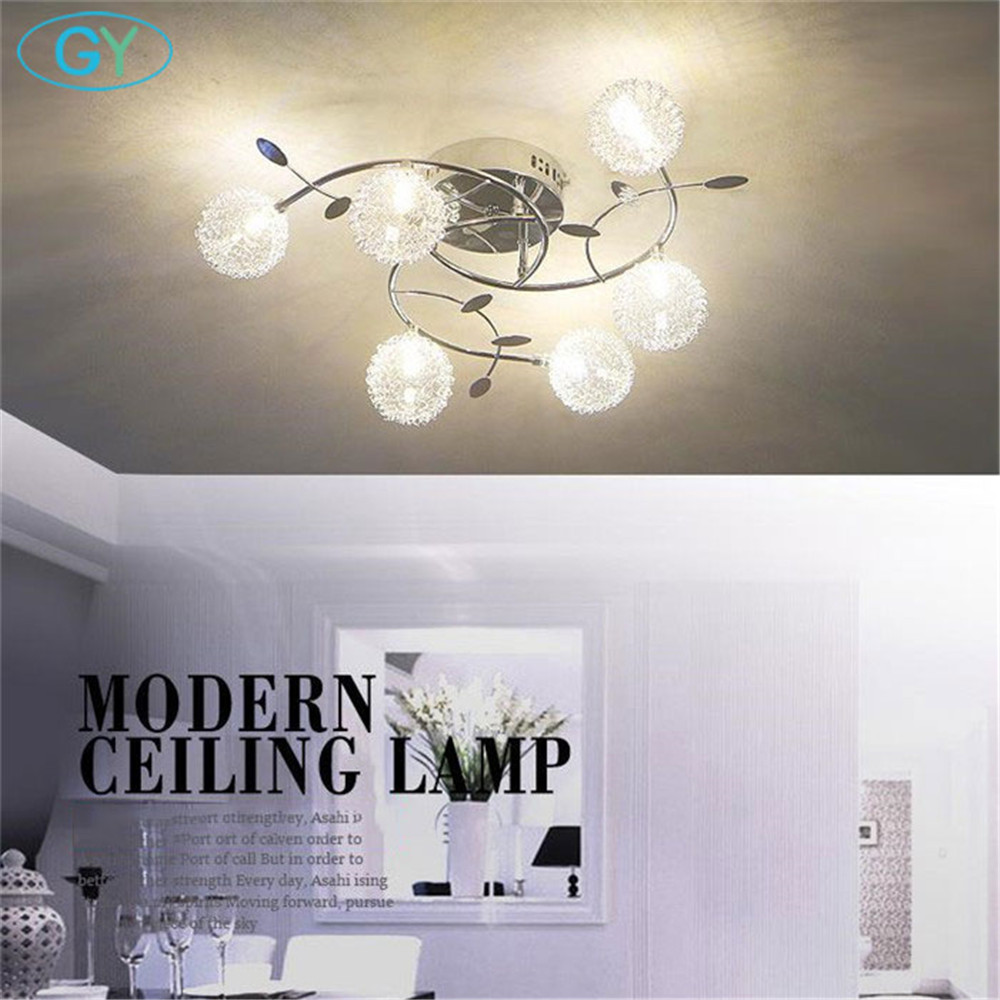 Modern Aluminum wire LED Ceiling light lustres glass or crystal abajur lampshade dining room kitchen leds ceiling fixture lampenModern Aluminum wire LED Ceiling light lustres glass or crystal abajur lampshade dining room kitchen leds ceiling fixture lampen