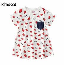 Летнее Новое Детское платье kimocat милая детская одежда для
