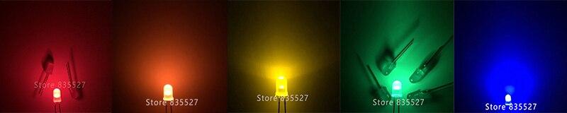 300 шт./кор. 15 видов F5 5 мм круглый светодиодный комплект смешанные теплые белые, красные, зеленые, синие, розового и фиолетового цветов УФ оранжевый желтый светодиод наборы для ухода за кожей