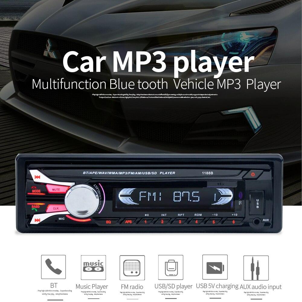 New FM font b Car b font font b Radio b font Bluetooth Detachable Front Panel