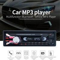 New FM Car Radio Bluetooth Detachable Front Panel Auto Audio Stereo Car MP3 Player AUX USB Handsfree Radios Tuner Remote Control