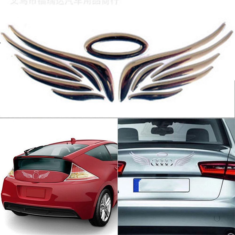 3D Angel Fairy Wings Car Auto Truck Logo Emblem Badge Decal  Styling Sticker New